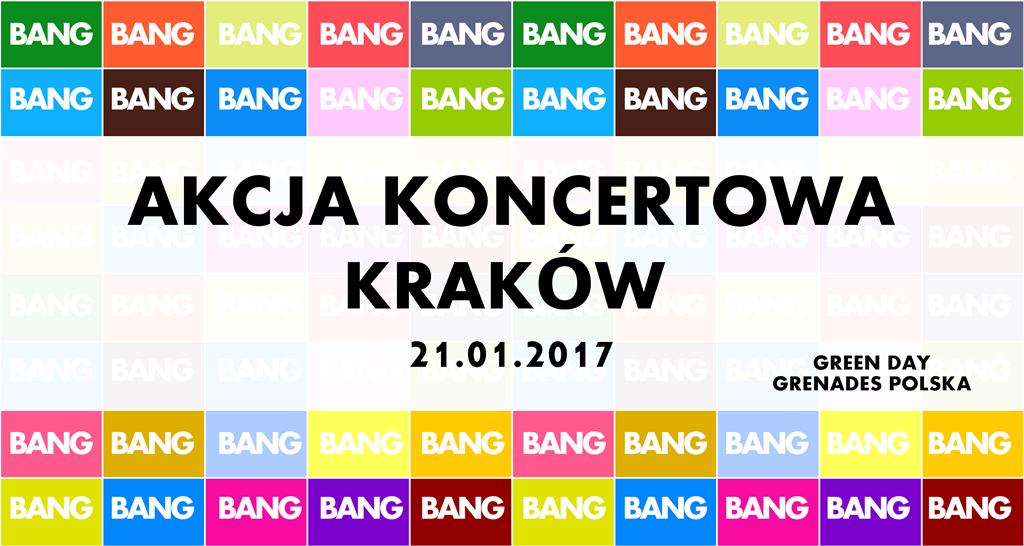 Akcja na koncert w Krakowie